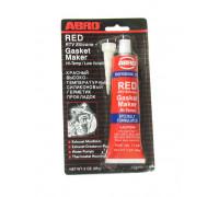 Герметик силиконовый красный 85г ABRO MASTERS 11-AB-CH-R уп-ка 12шт
