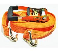 Стяжка ремень для крепления груза 10м. 50мм ( 2000кг-4000кг) усиленная , плотная лента