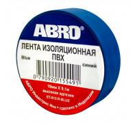 Изолента ПВХ ABRO EТ-912, синяя, 19ммх9.1м., упаковка 10шт