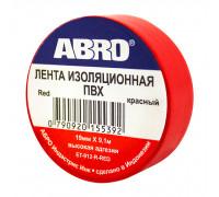 Изолента ПВХ ABRO EТ-912, красная, 19ммх9.1м., упаковка 10шт