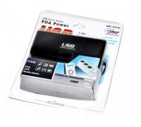 Разветвитель прикуривателя WF-0096 на 3 гнезда с USB 12/24V