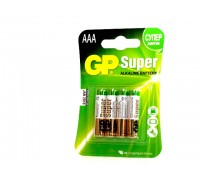 Элемент питания GP ALKALINE (AAA-мизинчиковые) в блистере (4шт)