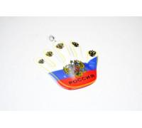 Флаг России на присоске 'РУКА' , большая ,  мягкая (уп-ка 50 шт)