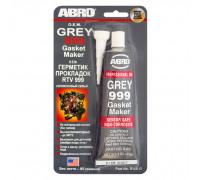 Герметик силиконовый высокотемпературный, серый 999, 85г ОЕМ ABRO 9-АВ-R