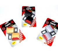 Заглушка для ремня безопасности 'TYPE R' с крепежом под ремень (2шт металл-пластик)
