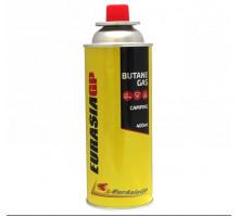 Газовый баллон 220гр. для туристических плиток, горелок  EurAsia GP BUTANE GAS 400ml UR Россия
