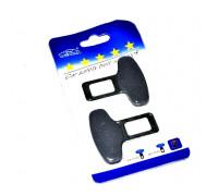 Заглушка для ремня безопасности а/м (металл) (2шт) в блистере