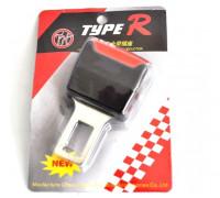 Заглушка для ремня безопасности 'TYPE R' с крепежом под ремень (1шт металл-пластик)