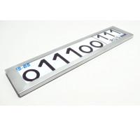 Рамка номерного знака ' ПРЕМИУМ-КЛАСС' (черная, нержавеющая сталь) (1шт)