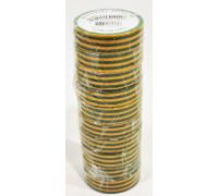 Изолента ПВХ OSTENDORF желто-зеленая 19мм х 20м., упаковка 10шт