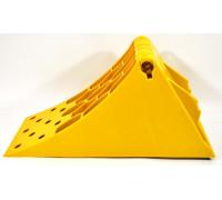 Башмак противооткатный  желтый 475 х200 х228 мм (подходит для грузовых)