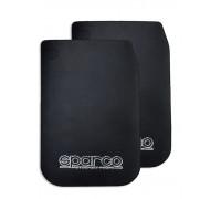 Брызговики  универсальные резиновые 'SPARCO' черные большие 2шт