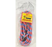 Трос  буксировочный 'веревка альпинистская'  БОГАТЫРЬ ( 7т., 2 крюка, диаметр 15мм.) в пакете