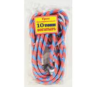 Трос  буксировочный 'веревка альпинистская'  БОГАТЫРЬ ( 10т., 2 крюка, диаметр 20мм.) в пакете