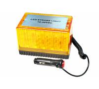 Маячок проблесковый светодиодный на магните 10-30V (стробоскоп) h-78мм, L- 122*80мм в прикуриватель