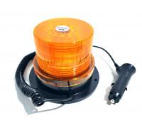 Маячок проблесковый светодиодный на магните 12-24V (стробоскоп) h-90мм, L- 130мм 40-LED в прикуриват