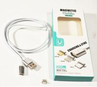 Кабель USB магнитный 'MAGNETIC', разъем- microUSB , длина 1,2м, белый