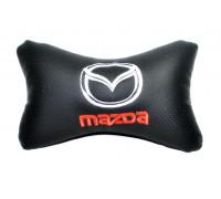 Подушка автомобильная на подголовник, косточка, MAZDA ортопедическая. эко-кожа