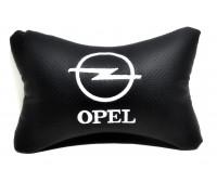 Подушка автомобильная на подголовник, косточка, OPEL ортопедическая. эко-кожа