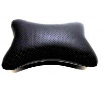 Подушка автомобильная на подголовник, косточка, черная, ортопедическая эко-кожа