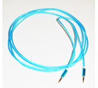 Кабель для мультимедии AUX длина 3м, оплетка-ткань, цвет-синий