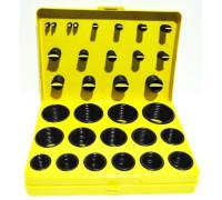 Набор резиновых колец масло-бензостойких (404 предметов) желтый кейс