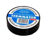 Изолента ПВХ 'TERMINATOR' standart черная 19ммх18.3м толщина 0.13мм самозатухающая (уп-ка 250шт)