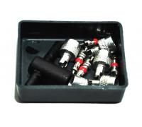 Ремкомплект камер (колпачки металл с ключом, короткий золотник, метчик)