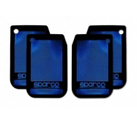 Брызговик универсальный [ALMEGA] цвет-карбон металлик синий, для внедор.,квадроцик.,прицеп. (4шт.)