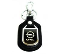 Брелок с карабином 'OPEL' натуральная кожа + хром-металл