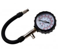 Манометр для проверки давления шин с гибким шлангом на блистере