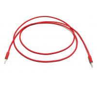 Кабель для мультимедии AUX длина 2м, оплетка-ткань, цвет-красный