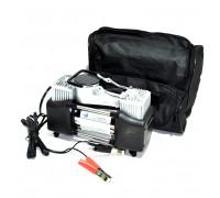 Компрессор автомобильный  АС-650 (поршневой двухцилиндровый) в сумке