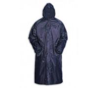 Дождевик-плащ большой в сумке, плотная ткань, капюшон, карманы, на молнии