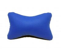 Подушка автомобильная на подголовник, косточка, синяя, ортопедическая эко-кожа