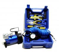 Компрессор автомобильный  АС-605 в кейсе с инструментами (усиленный,поршневой)