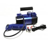 Компрессор автомобильный  АС-615 в кейсе с LED-фонарем (усиленный, 2х-поршневой)