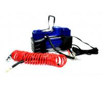 Компрессор автомобильный  АС-630 с автостопом и электро-манометром (усиленный, 2х-поршневой)