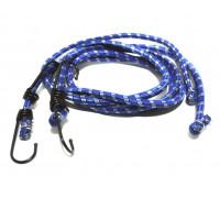 Стяжка багажная (2шт.*120см,диаметр 8 мм,резина) металлические крючки