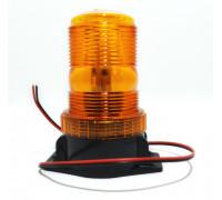 Маячок проблесковый светодиодный стационар 10-30V (стробоскоп) h-132мм, d- 99/74мм 30-LED в прикур.